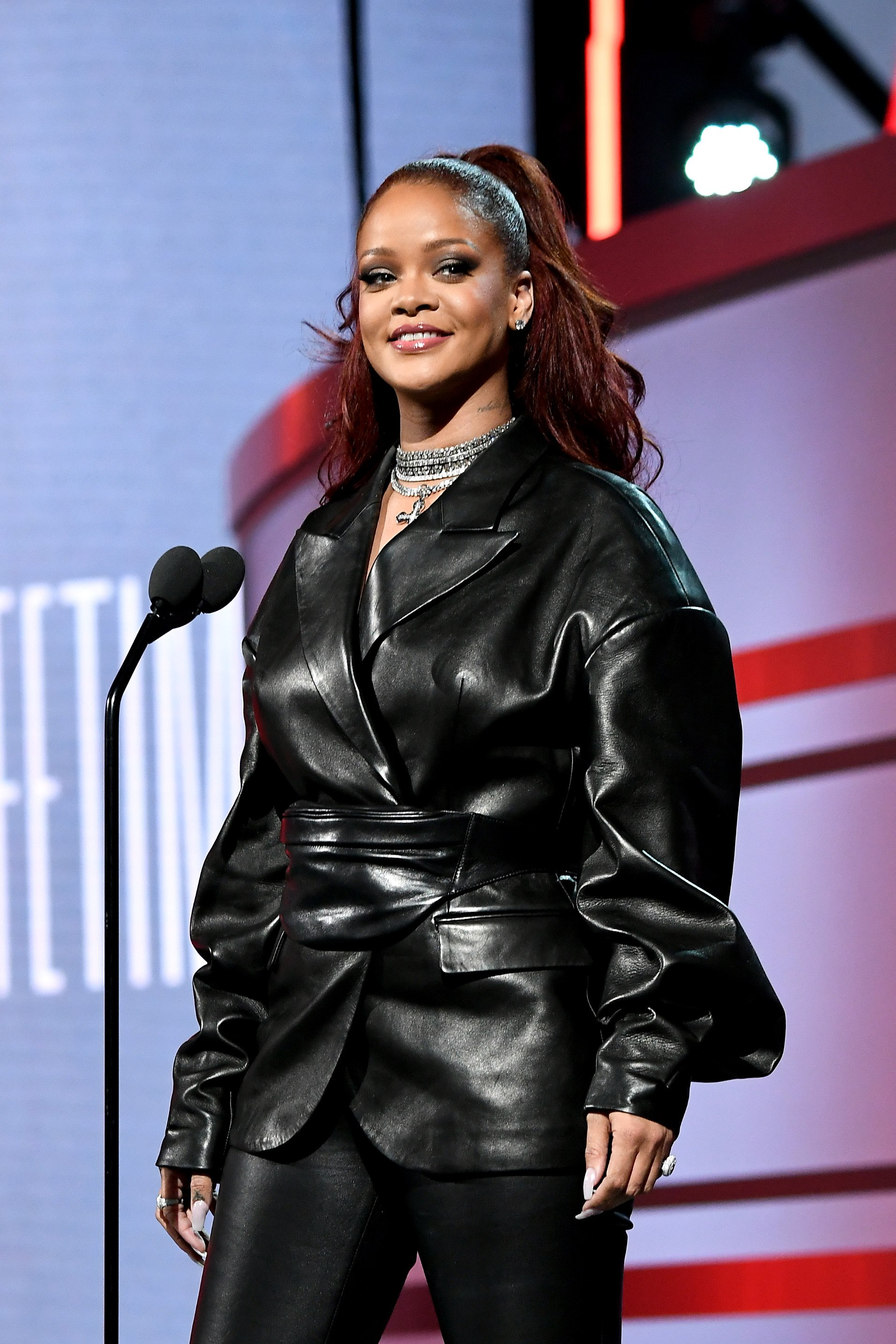 Rihanna speaks onstage at the 2019 BET Awards at Microsoft Theater on June 23, 2019, in Los Angeles, California. | Source: Getty Images.