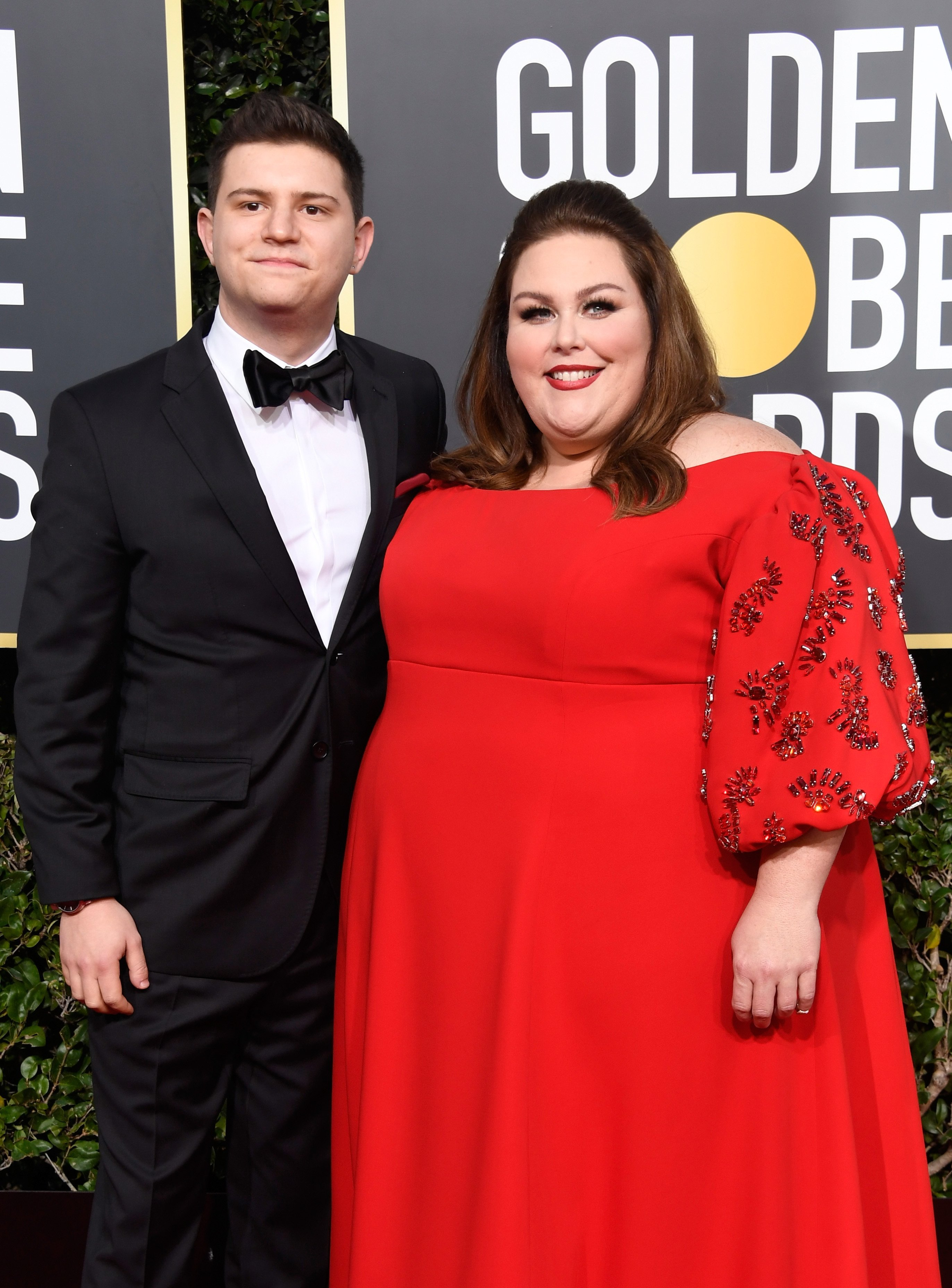 Chrissy Metz and Hal Rosenfield attend the 2019 Golden Globe Awards | Photo: Getty Images