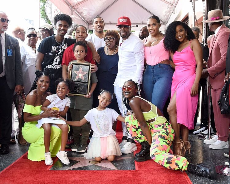 Teddy Riley and his family celebrate his induction to the Hollywood Walk of Fame in August 2019 | Source: Getty Images/GlobalImagesUkraine