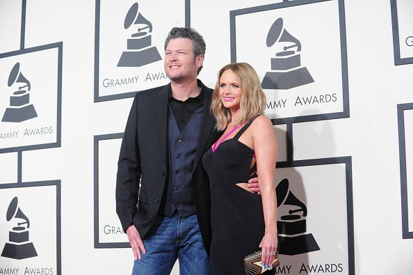 Blake Shelton & Miranda Lambert on the Red Carpet during The 57th Annual Grammy Awards in Los Angeles | Photo: Getty Images
