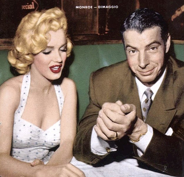 Marilyn Monroe and Joe DiMaggio from the cover of the January 1954 issue of Now magazine. | Source: Wikimedia Commons