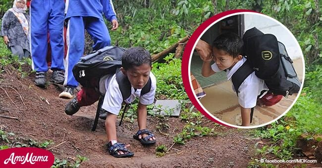 Faites connaissance avec le garçon de 8 ans qui doit utiliser ses mains pour parcourir 3 kilomètres à pied jusqu'à l'école