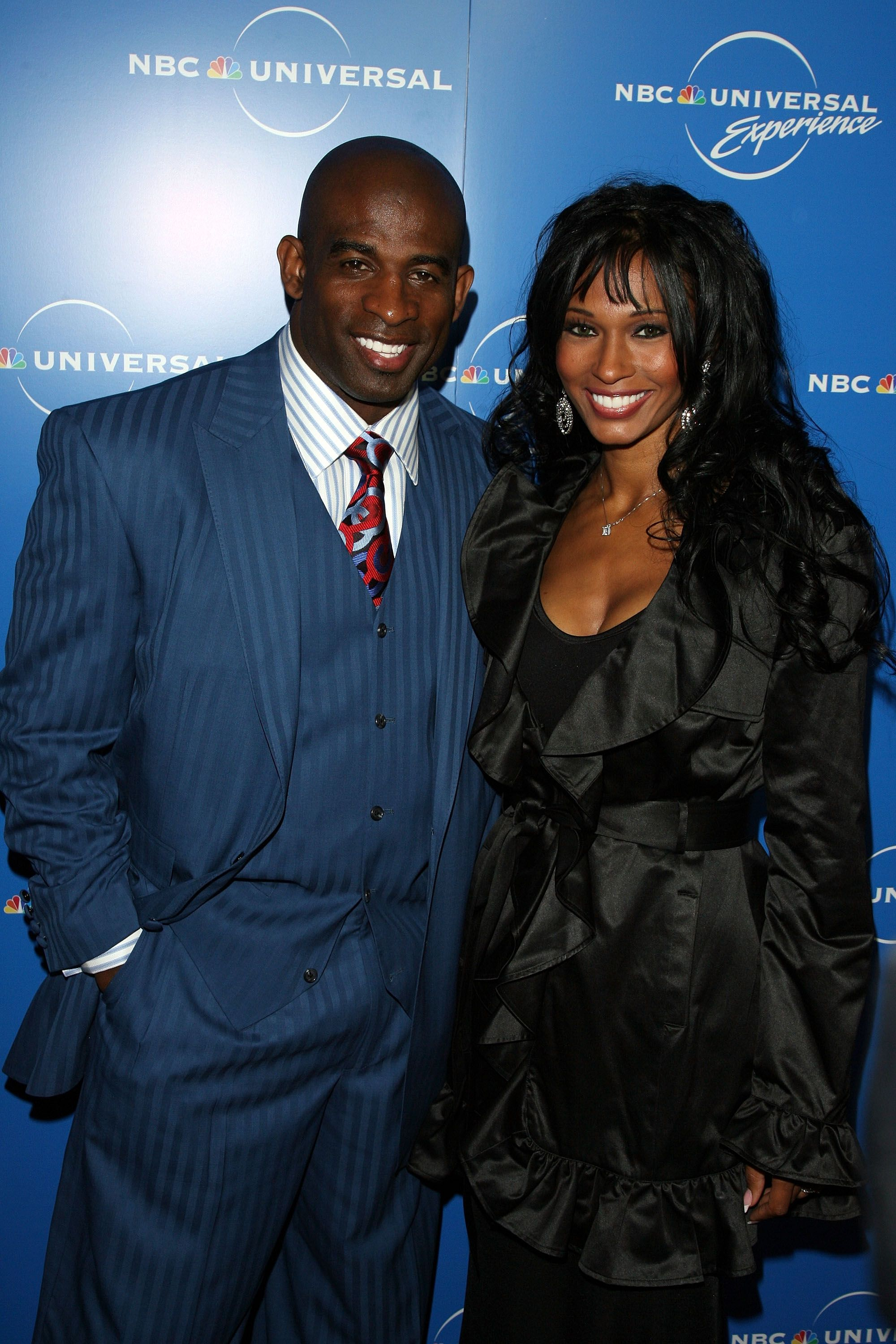 Deion Sanders and Pilar Biggers at NBC Universal Experience at Rockefeller Center on May 12, 2008 in New York City. | Photo: Getty Images