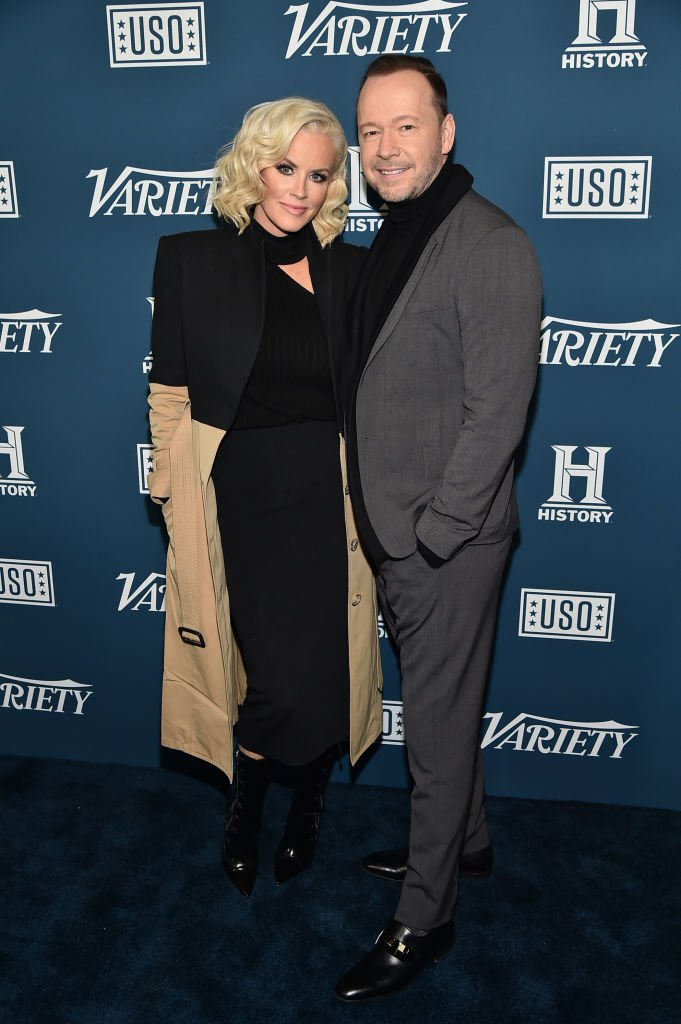 Jenny McCarthy and Donnie Wahlberg attend Variety's 3rd Annual Salute To Service at Cipriani 25 Broadway | Photo: Getty Images