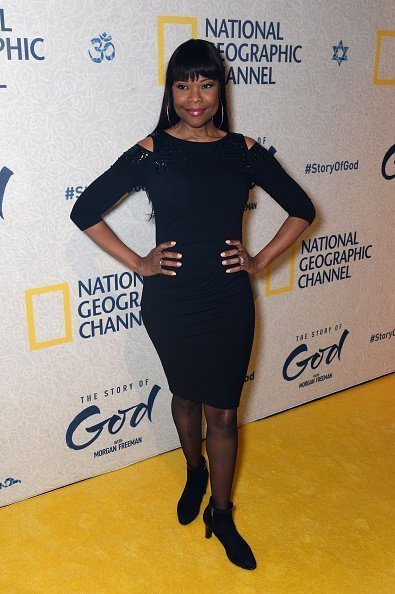 "Angela Robinson attends the world premiere of National Geographic's ""The Story Of God"" with Morgan Freeman at Jazz at Lincoln Center 