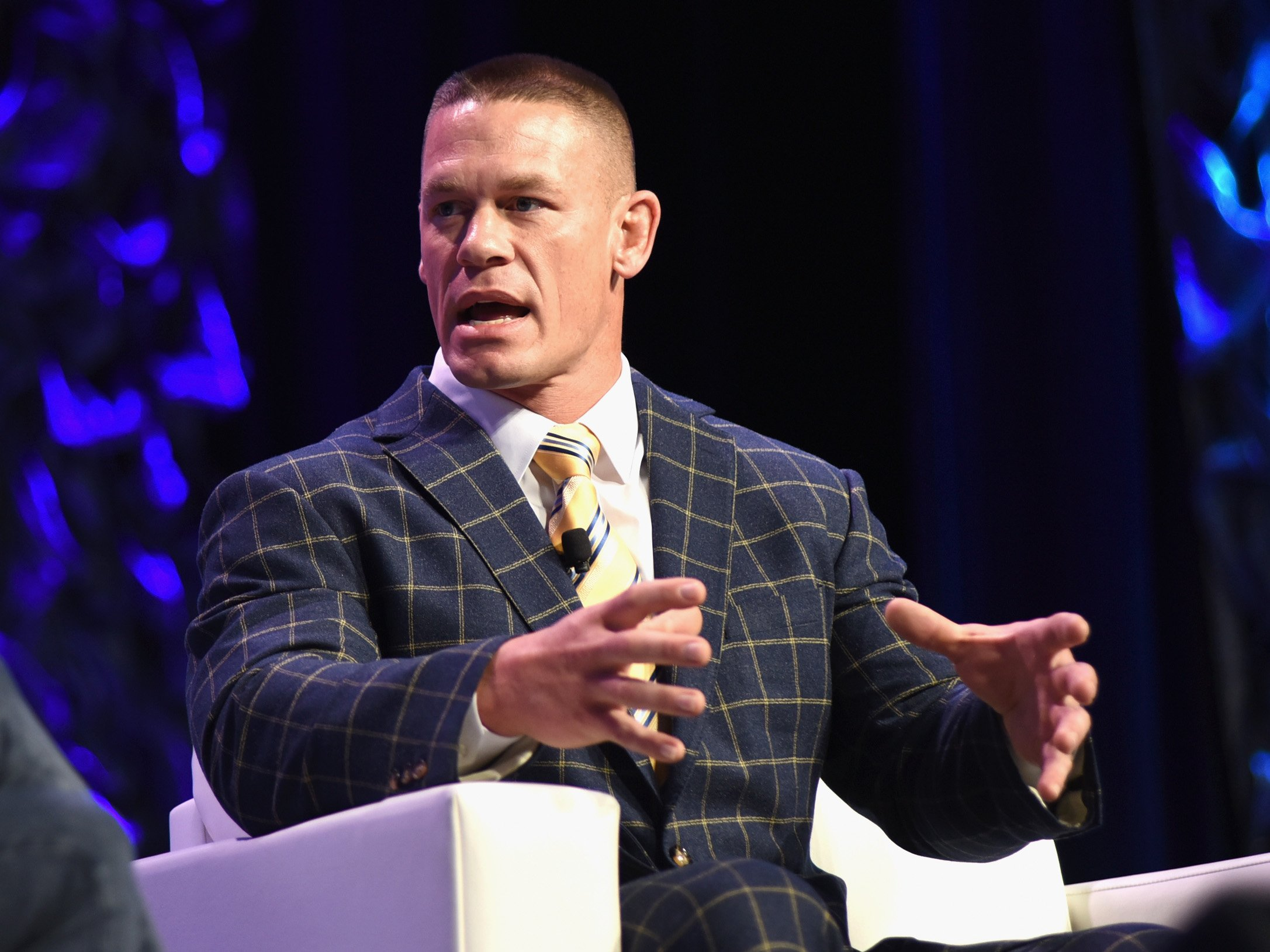John Cena speaks onstage at 'Featured Speaker: John Cena' during 2017 SXSW Conference and Festivals at Austin Convention Center on March 13, 2017, in Austin, Texas. | Source: Getty Images.