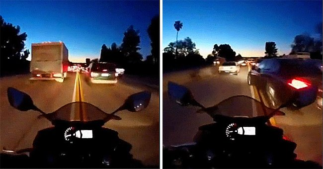 Man Tries to Bypass Traffic, Regrets It Quickly