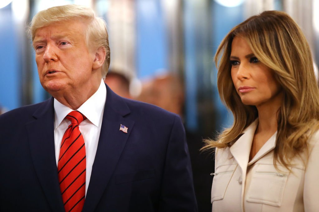U.S. President Donald Trump, accompanied by first lady Melania Trump, speaks to the media at the United Nations (U.N.) General Assembly | Photo: Getty Images