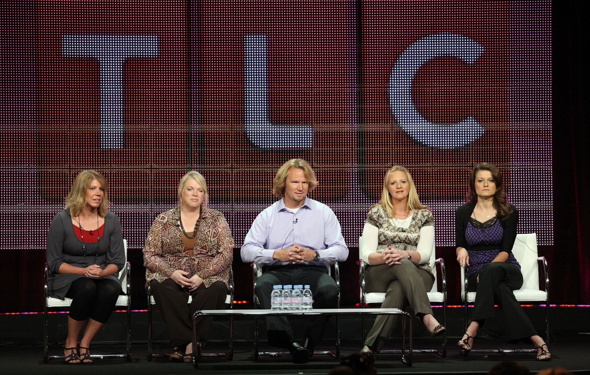 "Meri Brwon, Janelle Brown, Kody Brown, Christine Brown and Robyn Brown speak duinrg the ""Sister Wives"" panel  