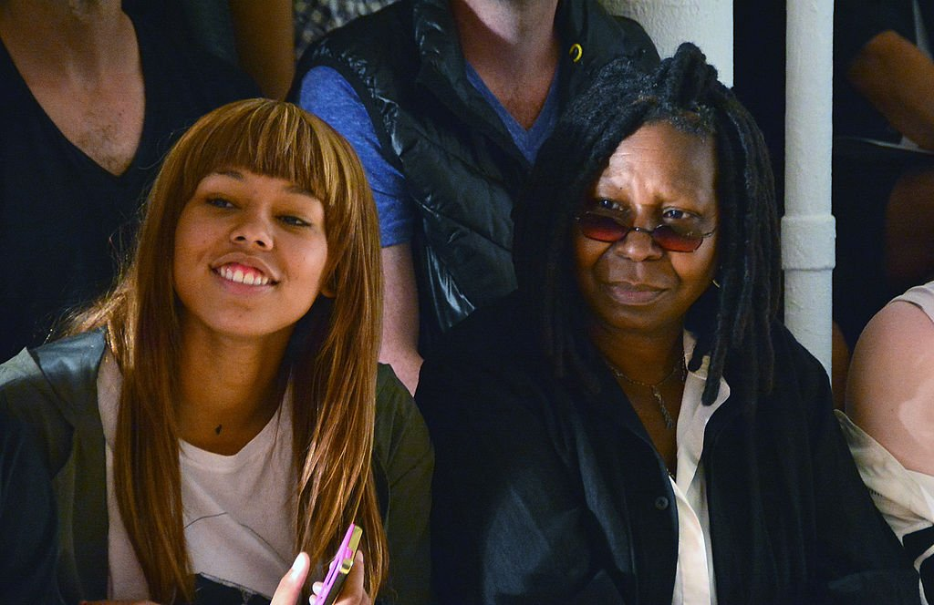 Whoopi Goldberg and Jerzey Dean at the Jeremy Scott fashion show during MADE Fashion Week Spring 2015 on September 10, 2014 in New York City.   Source: Getty Images