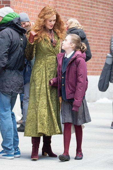 Nicole Kidman on the set of 'The Undoing' with her daughter in New York City. | Photo: Getty Images.