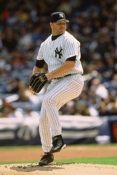 Roger Clemens during an MLB game at Yankee Stadium in the Bronx, New York, circa 1998.   Photo: Getty Images