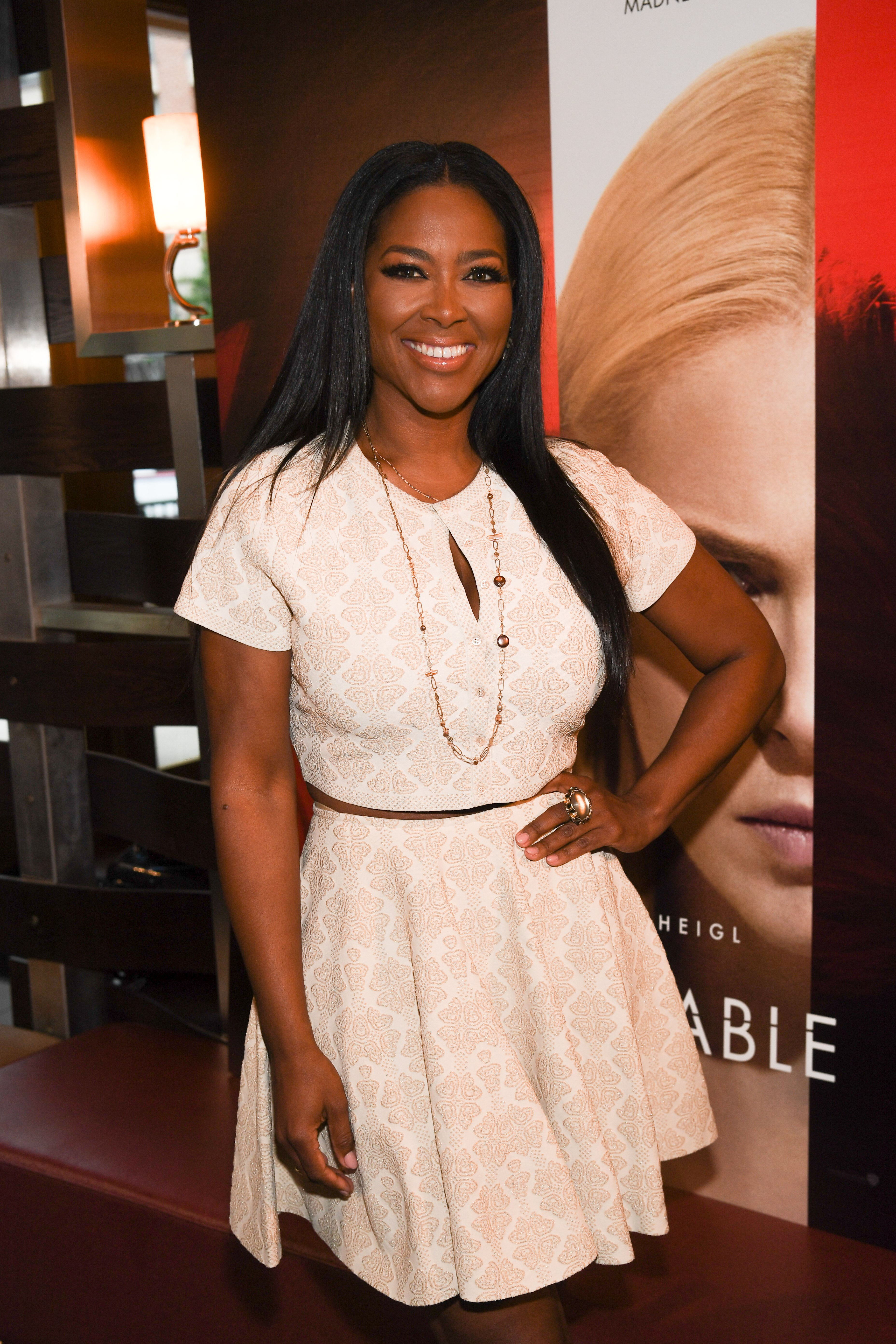 """Kenya Moore attends the screening of """"Unforgettable"""" in Atlanta, Georgia on April 12, 2017 