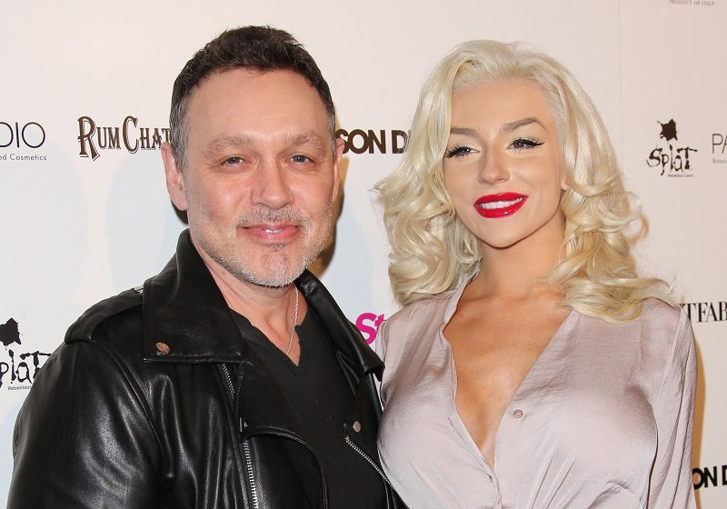 Doug Hutchison and Courtney Stodden on April 15, 2015 in Hollywood, California   Photo: Getty Images