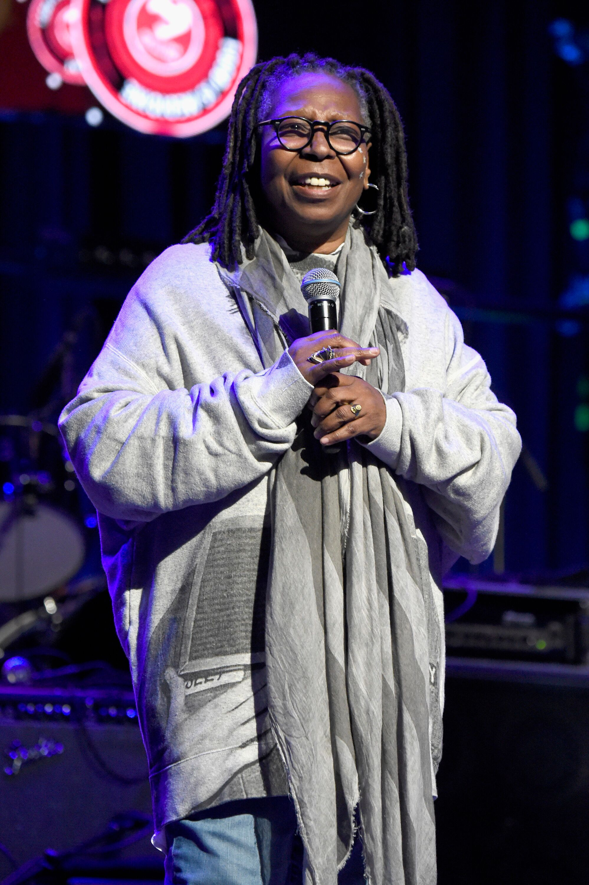 Whoopi Goldberg speaks onstage at the Second Annual LOVE ROCKS NYC! | Source: Getty Images