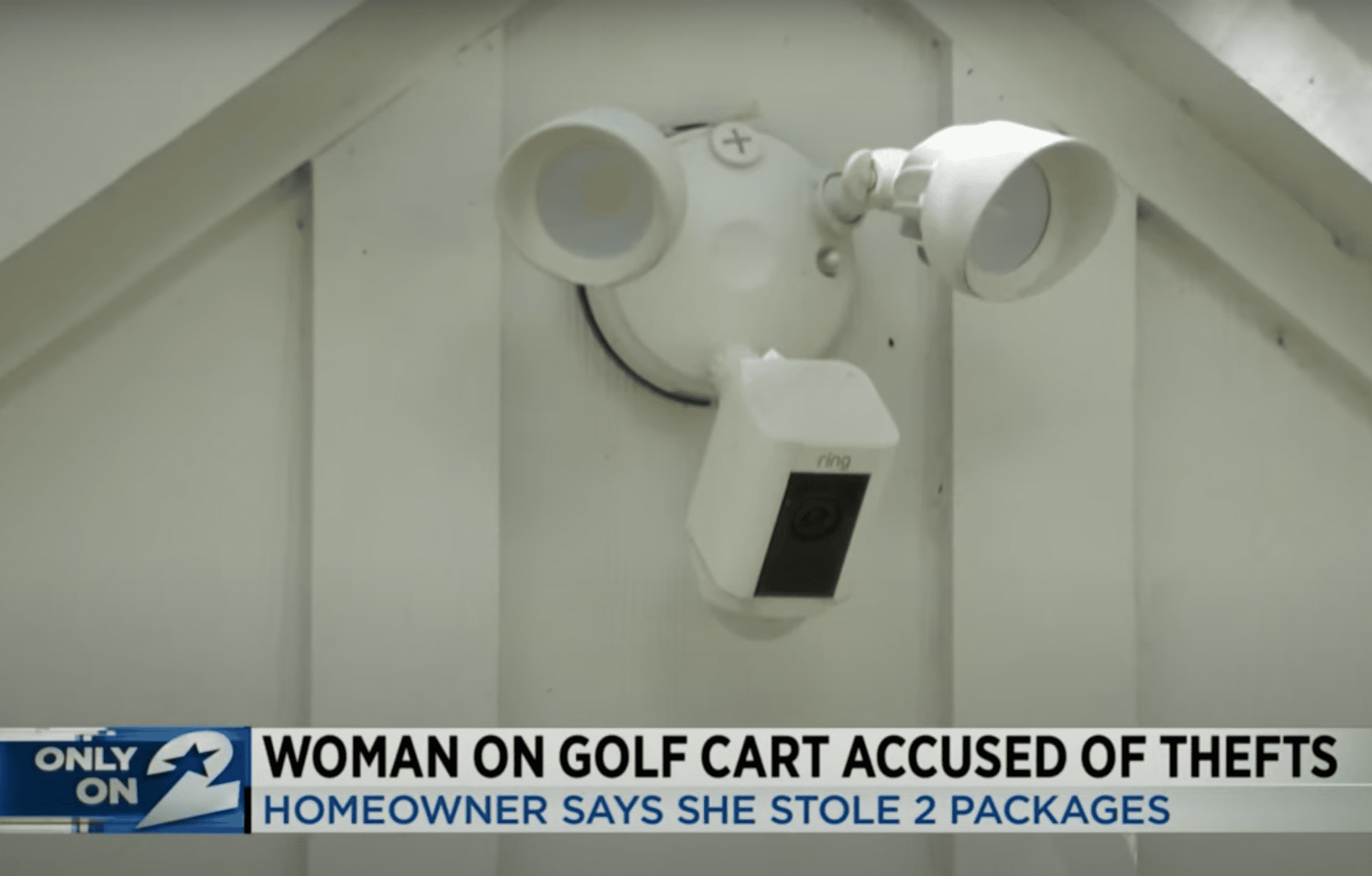 The home security cameras that recorded a woman as she stole two parcels from a front porch | Photo: Youtube/KPRC 2 Click2Houston