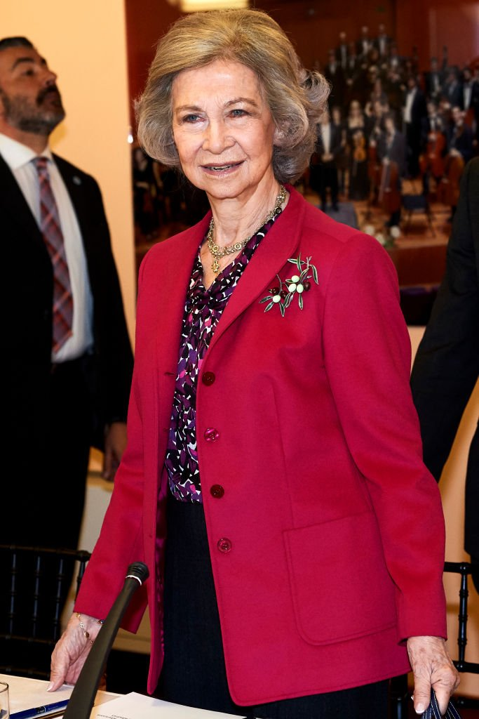 La Reina Sofía en reunión con la Junta de la Escuela de Música 'Reina Sofía' el 26 de marzo de 2019 en Madrid, España.   Imagen: Getty Images