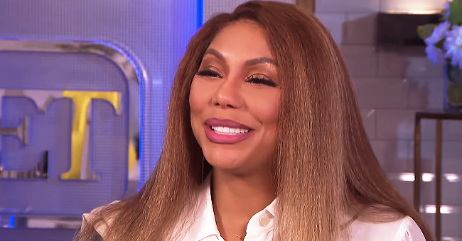 Tamar Braxton Boldly Flaunts Her Curves in Tight Black Jumpsuit