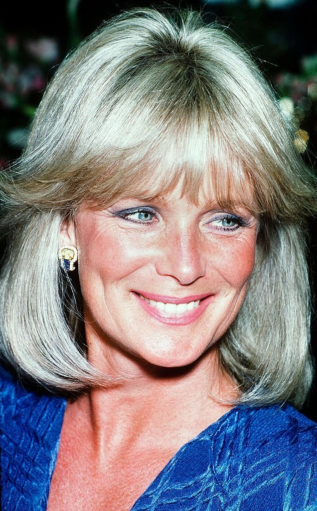 """Linda Evans, former """"Dynasty"""" star, in the year 1990 