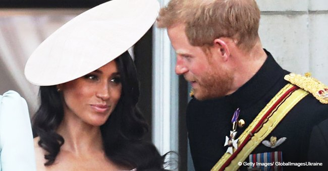 A sweet moment between Meghan and Harry on the balcony that we may have all missed