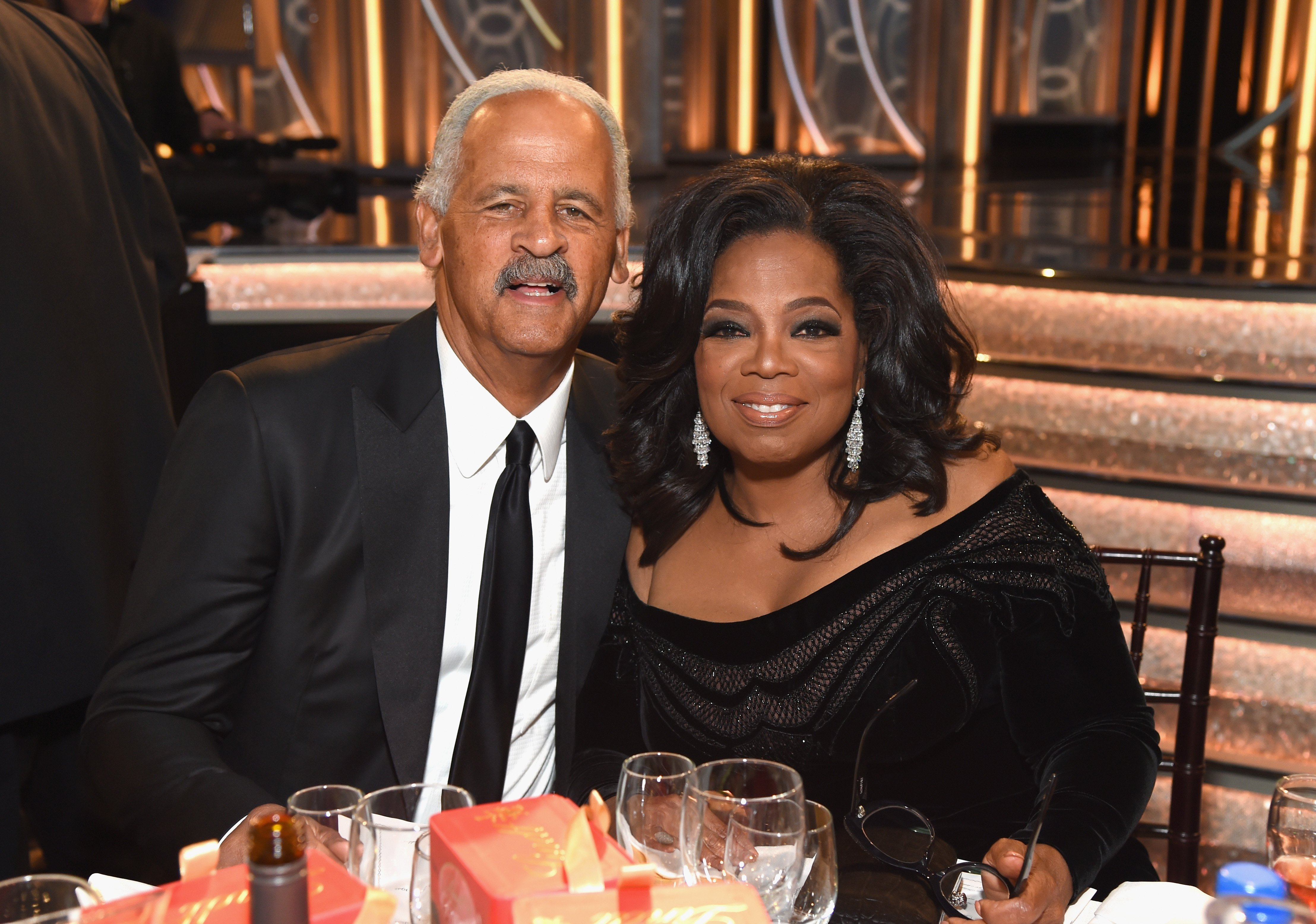 Stedman Graham and Oprah Winfrey at The 75th Annual Golden Globe Awards on January 7, 2018, in Beverly Hills, California l Source: Getty Images