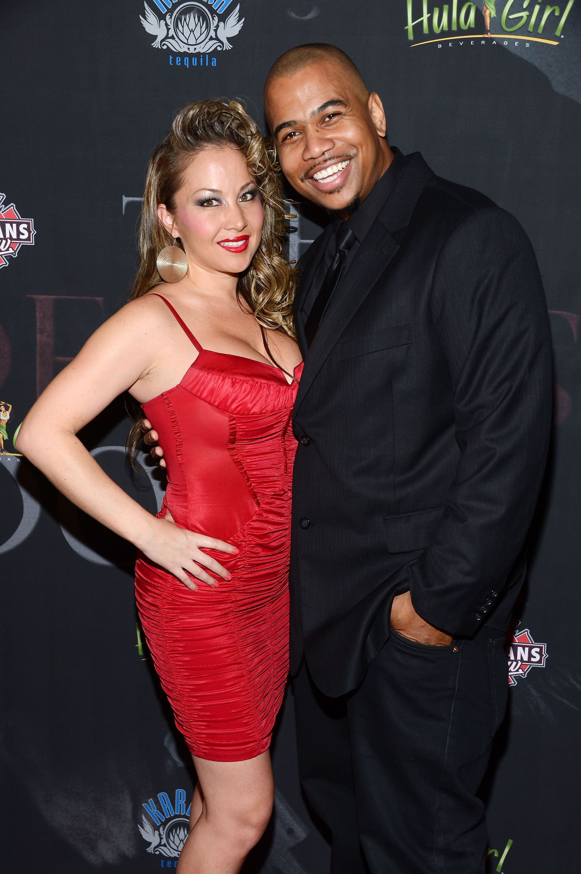 """Omar Gooding and Mia Vogel at """"The Devil's Dozen's"""" premiere in Hollywood/ Source: Getty Images"""