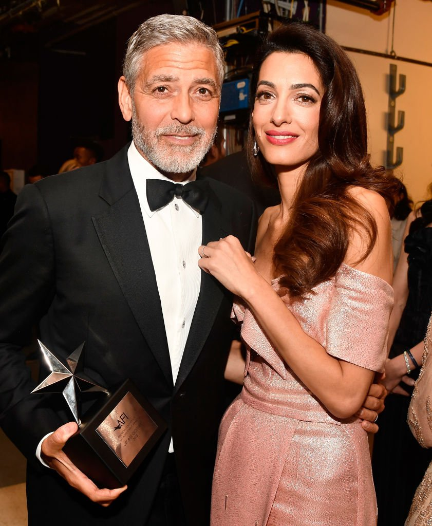 George Clooney and Amal Clooney on June 7, 2018 in Hollywood, California | Photo: Getty Images