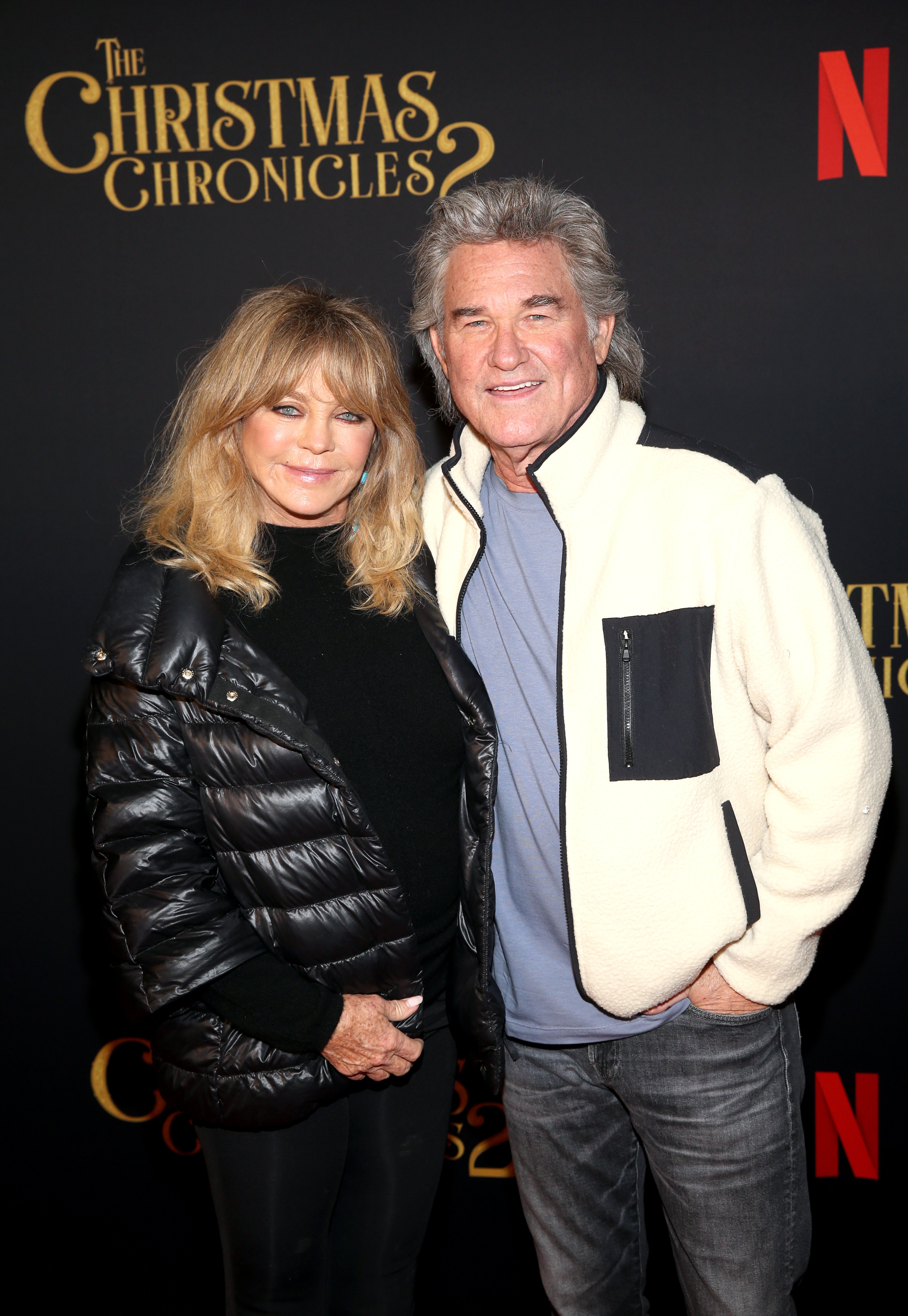 """Goldie Hawn and Kurt Russell attend Netflix's """"The Christmas Chronicles: Part Two"""" Drive-In Event at The Grove on November 19, 2020 in Los Angeles, California 