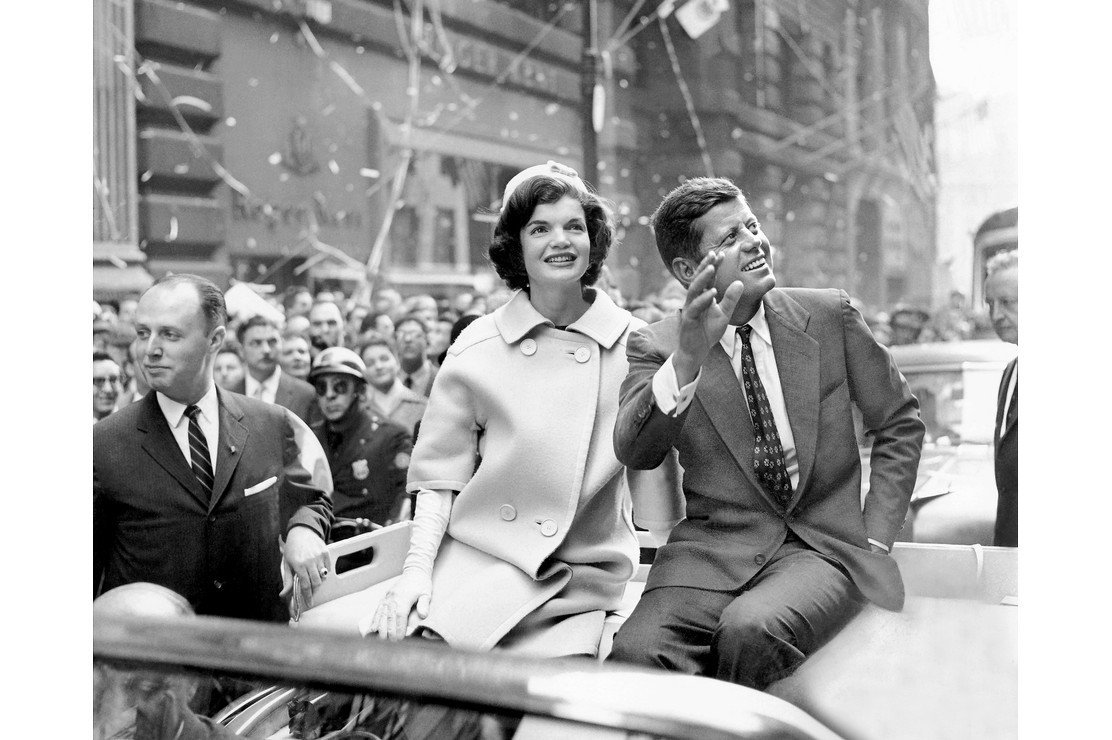 John F Kennedy, pictured with his wife Jackie during his campaign for the presidency, was assassinated in Dallas, Texas, in 1963. Image credit: Getty/Global Images Ukraine