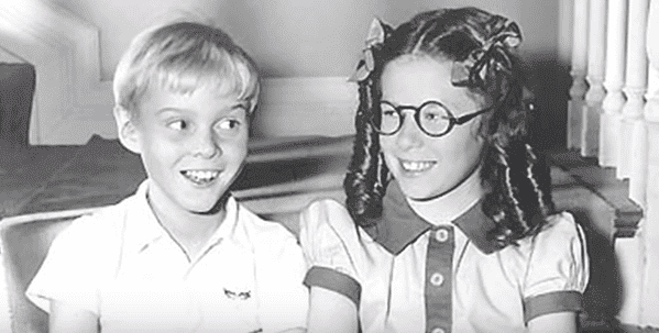 """Jeanne Russell and Jay North in """"Dennis the Menace."""" 