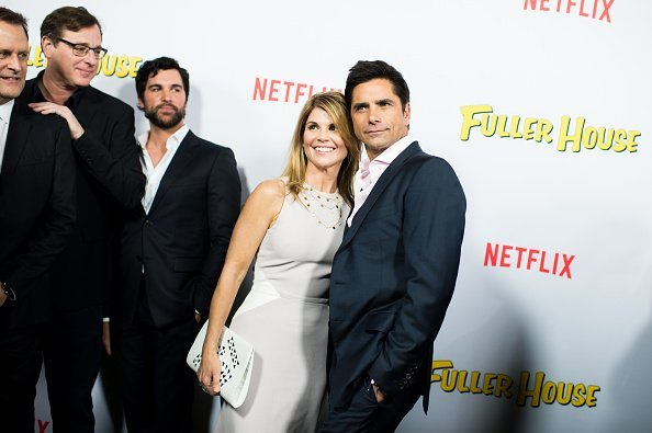 Bob Saget and Lori Loughlin attend the premiere of Netflix's 'Fuller House' at Pacific Theatres at The Grove in Los Angeles | Photo: Getty Images