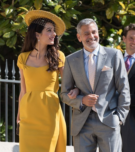 George and Amal Clooney attend the royal wedding of Prince Harry and Meghan Markle on May 19, 2018 | Photo: Getty Images