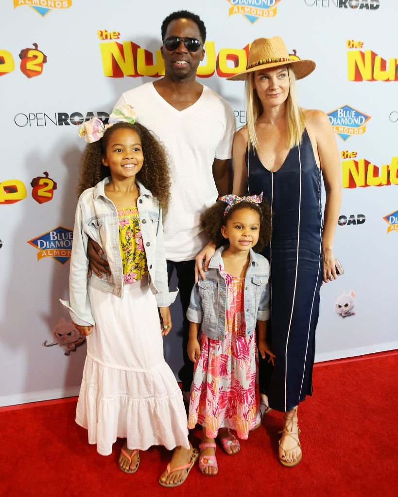 """Harold, Brittany, Wynter Aria, and Holiday Grace at the premiere of """"The Nut Job 2: Nutty By Nature"""" on August 5, 2017, in LA, California 