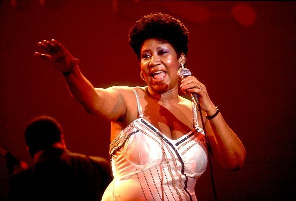 Aretha Franklin promoting her album One Lord, One Faith, One Baptism. | Photo; Getty Images