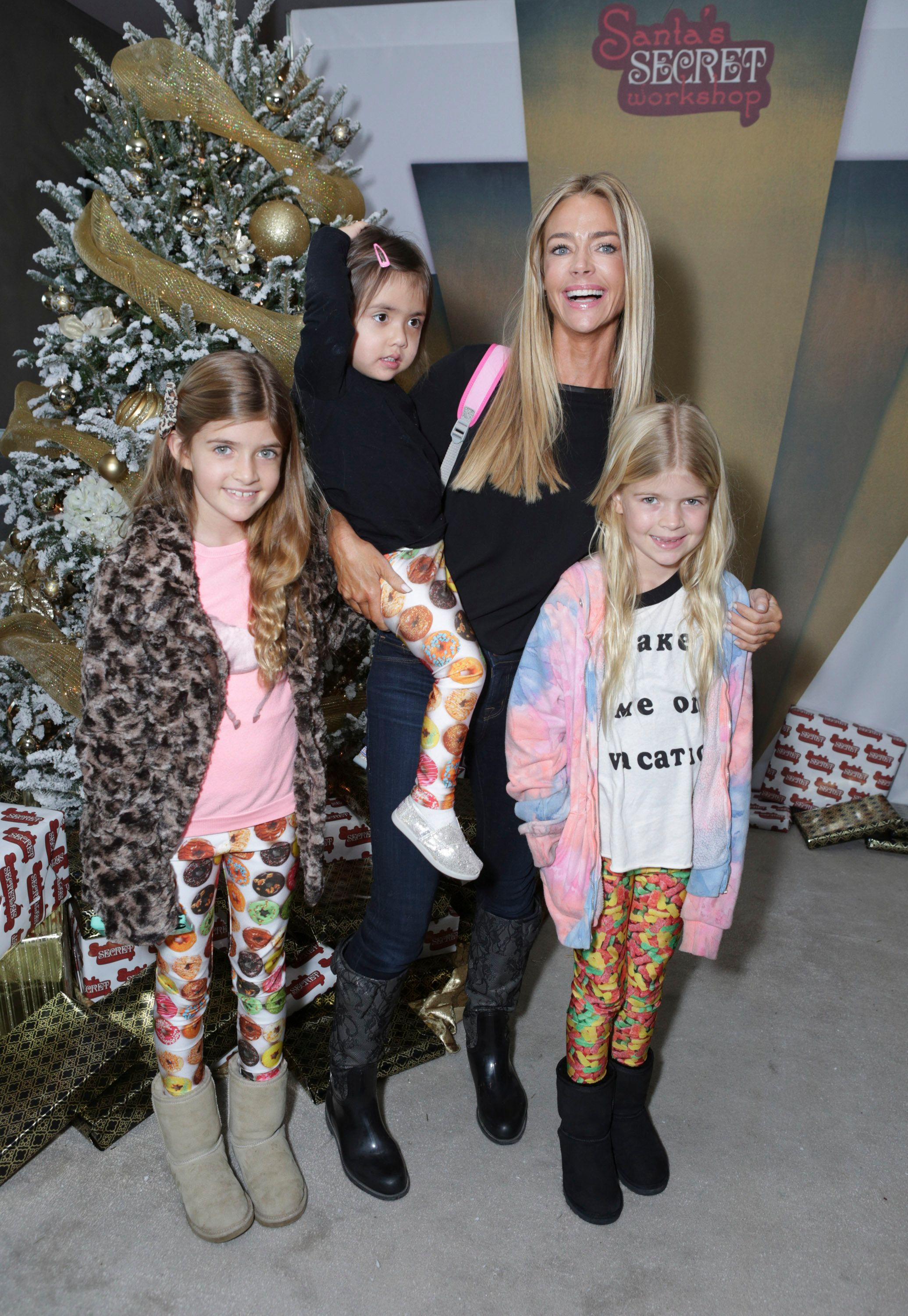 Denise and Eloise Richards, Lolaand Sami Sheen atthe 3rd Annual Santa's Secret Workshop Benefiting LA Family Housingon December 7, 2013, in Los Angeles, California   Photo:Tiffany Rose/WireImage/Getty Images