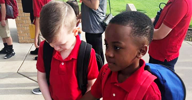 Photo of Boy Comforting His Classmate with Autism on First Day of School Goes Viral