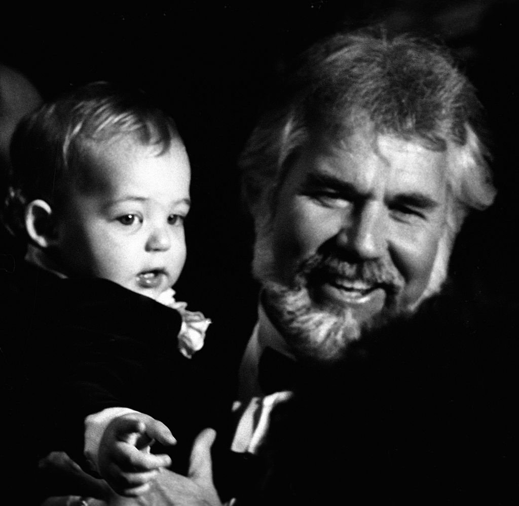 Kenny Rogers and son Christopher Cody Rogers attend 10th Annual American Music Awards on January 17, 1983 at the Shrine Auditorium in Los Angeles, California.   Source: Getty Images