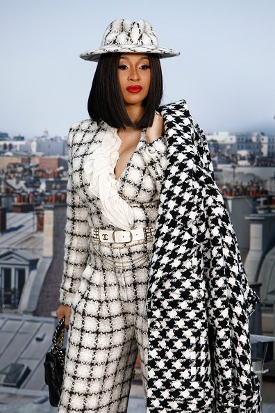 Cardi B attends at the Chanel Womenswear Spring/Summer 2020 show on October 01, 2019 | Photo: Getty Images
