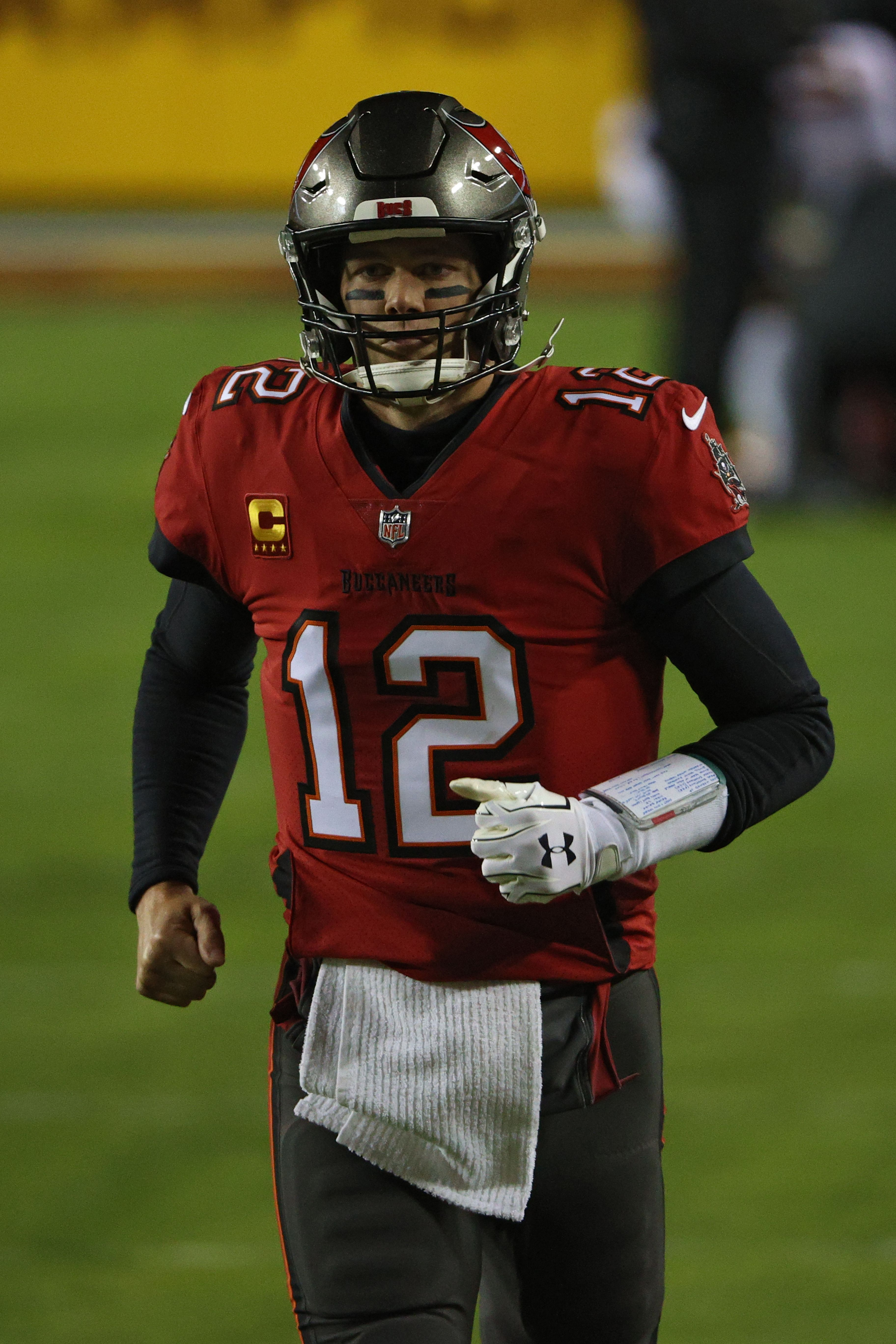 Tom Brady on the field representing his team Tampa Bay Buccaneers. Source | Photo: Getty Images