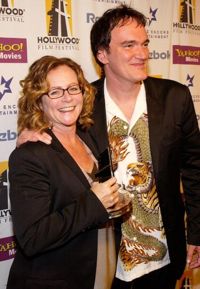 Sally Menke and Quentin Tarantino at the Beverly Hilton Hotel October 18, 2004 in Beverly Hills, California. | Photo: Getty Images