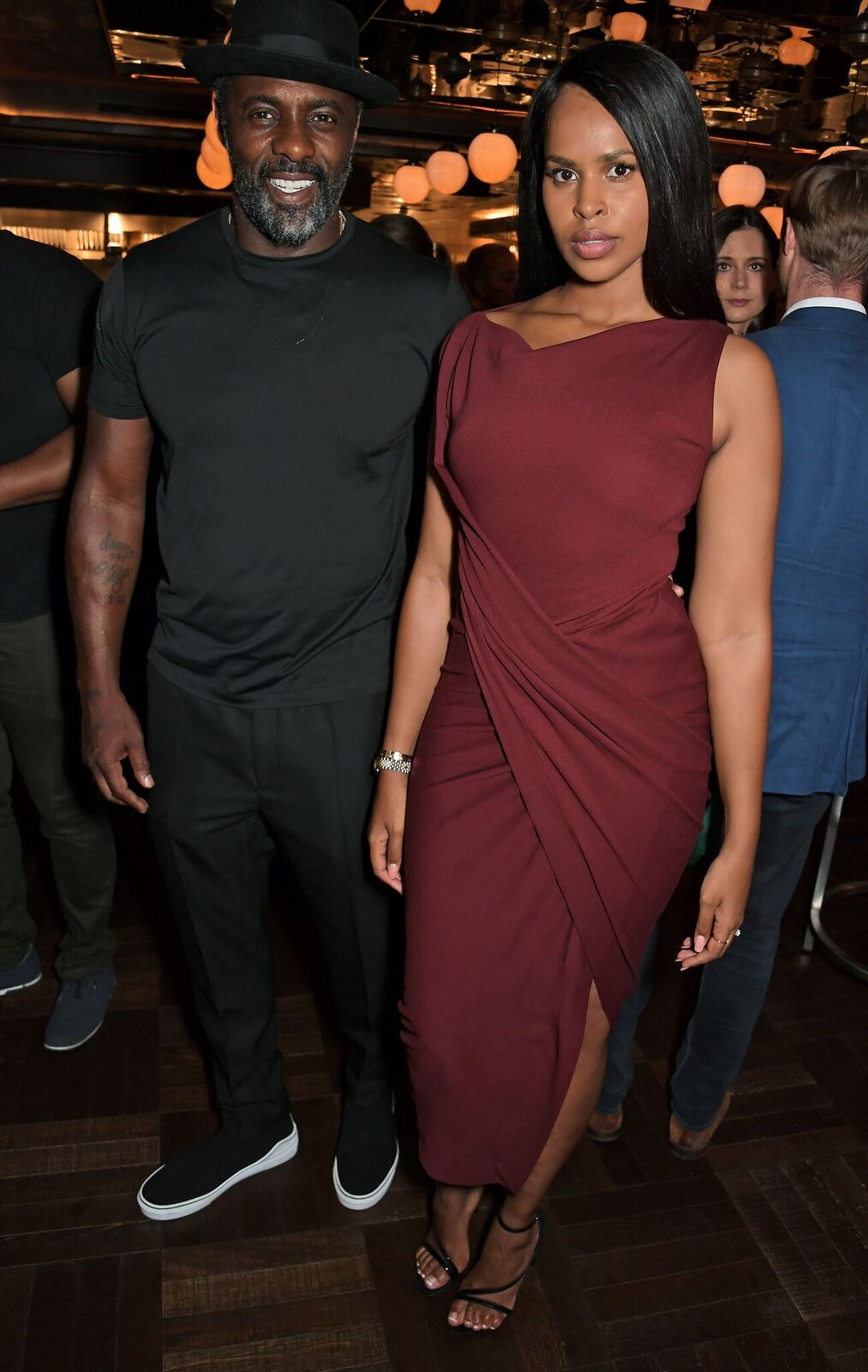 Idris Elba and Sabrina Dhowre Elba at the official launch party of Lucky Cat by Gordon Ramsay on September 2, 2019, in London, England | Photo: David M. Benett/Dave Benett/Getty Images