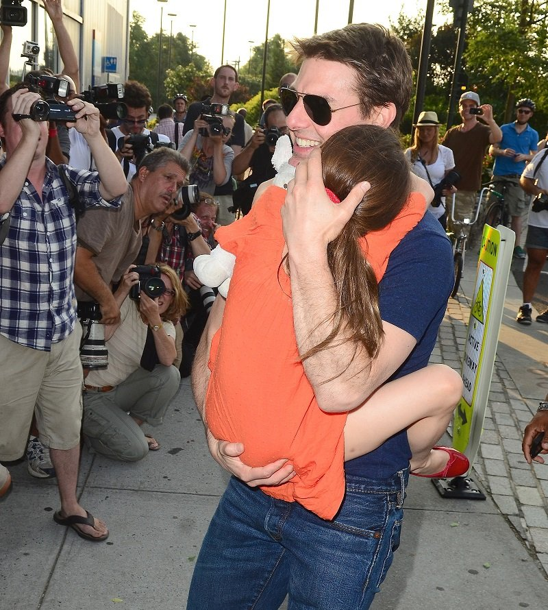 Tom Cruise and Suri Cruise on July 17, 2012 in New York City | Photo: Getty Images