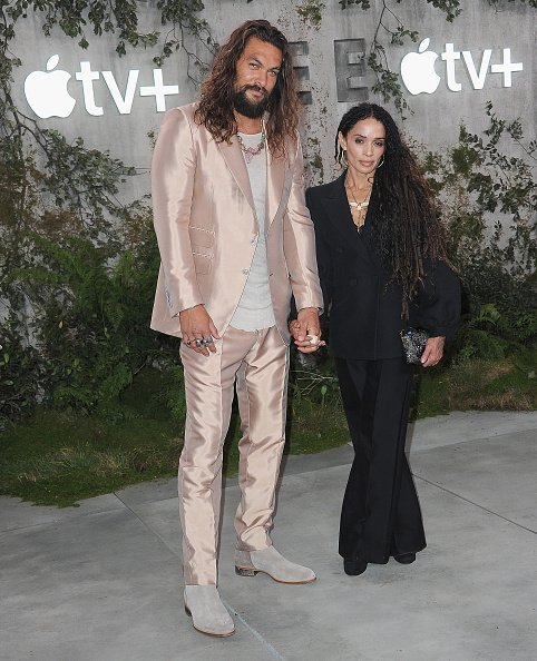 """Jason Momoa and Lisa Bonet at the World Premiere Of Apple TV+'s """"See"""" on October 21, 2019 