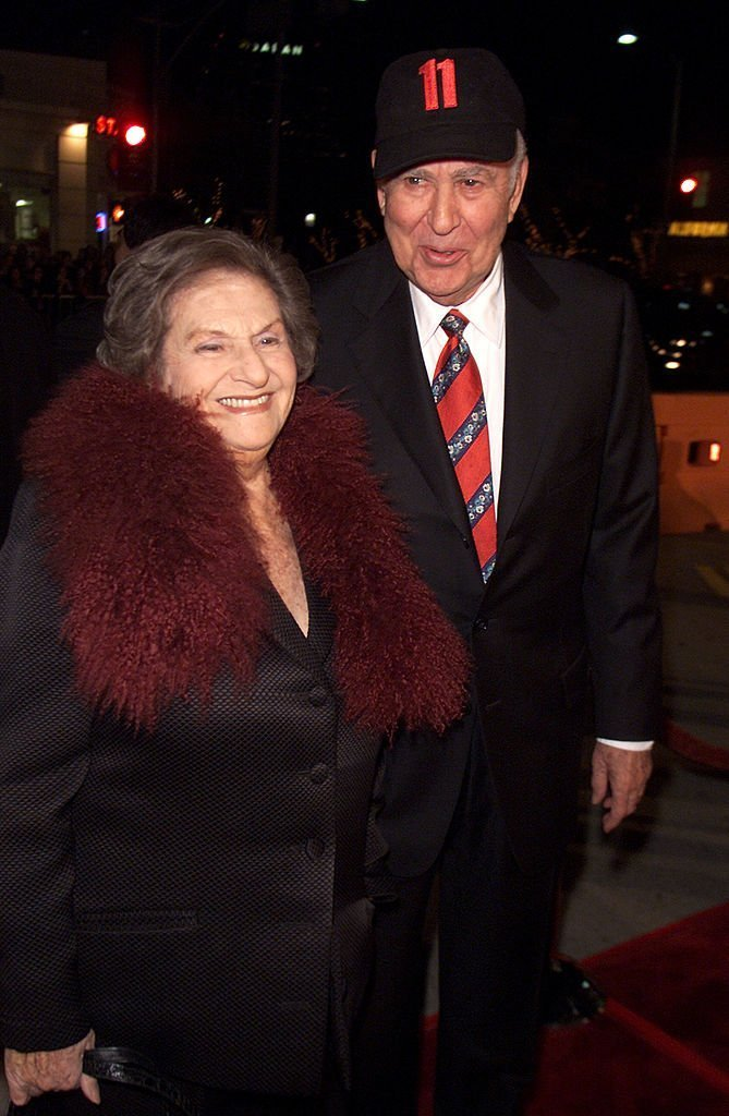 "Carl and Estelle Reiner at the premiere of ""Ocean's Eleven"" at the Village Theater 