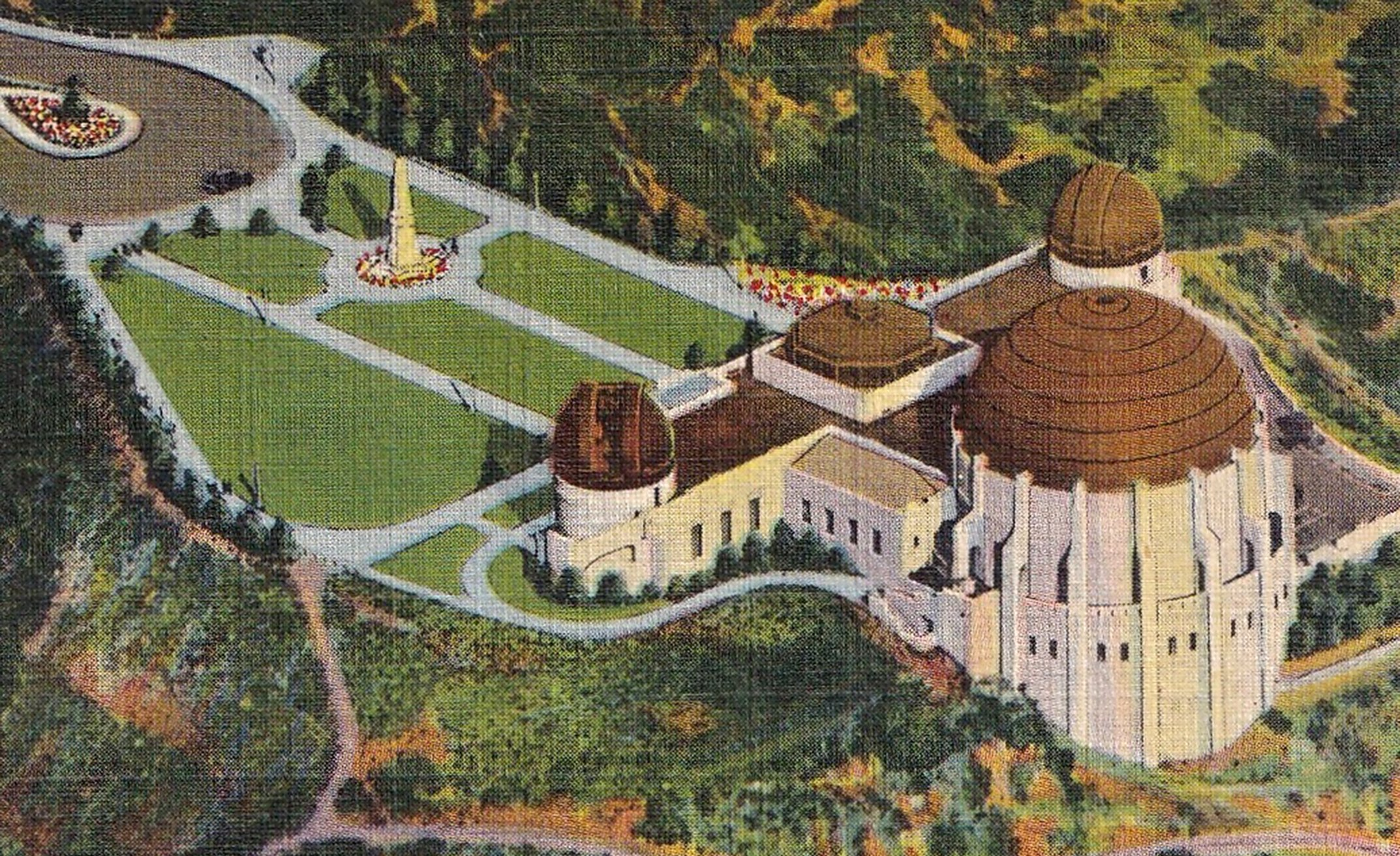 A postcard of Griffith Park where Jean Spangler's purse was found | Photo: Getty Images