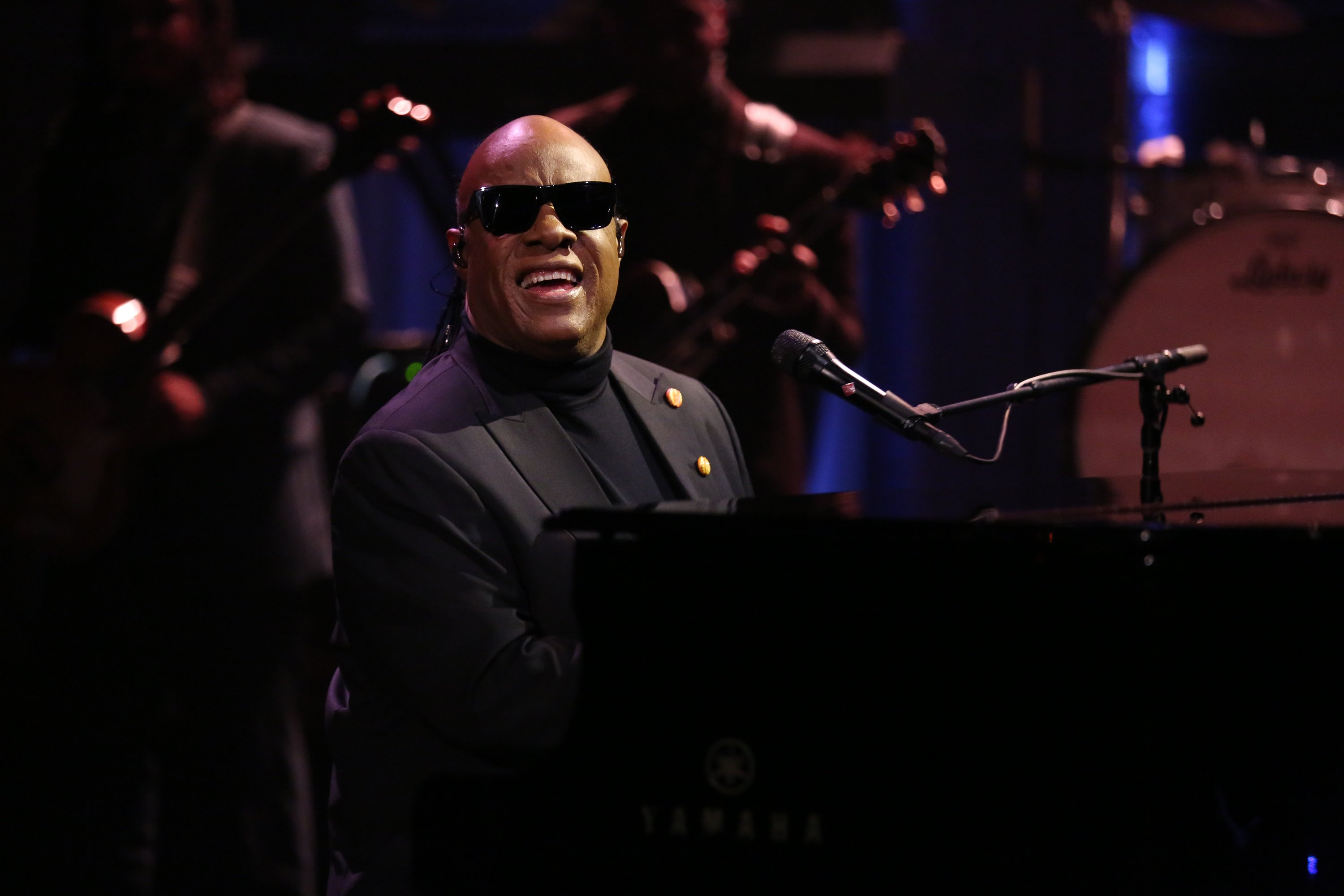 "Stevie Wonder performs with The Roots on ""The Tonight Show Starring Jimmy Fallon"" on January 11, 2017 