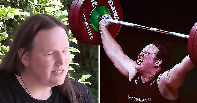 Transgender athlete Laurel Hubbard during a weightlifting competition | Photo: Youtube.com/CBS This Morning