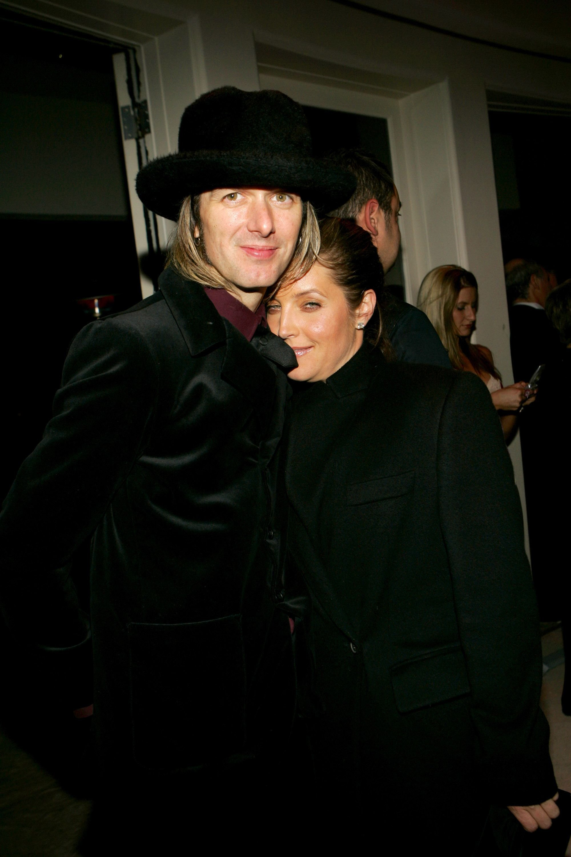 Michael Lockwood and Lisa Marie Presley at a U2 Post-Grammy Party on February 13, 2005 | Photo: KMazur/WireImage/Getty Images