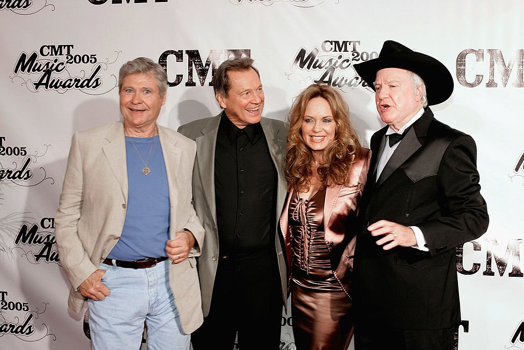 Ben Jone, Sonny Shroyer, Catherine Bach, James Best. Image Credit: Getty Images