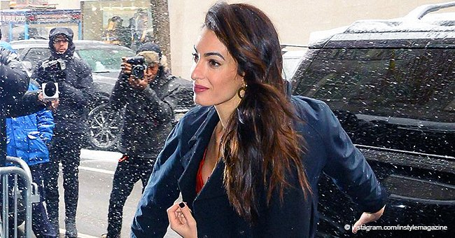Amal Clooney looked sensational in a gorgeous jumpsuit when arriving at Meghan's baby shower